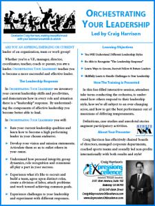 Orchestrating Leadership  description PDF
